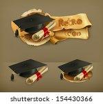 3d,academic,accomplishment,achievement,art,bachelor,banner,black,bow,cap,celebration,ceremony,certificate,coat of arms,college