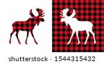 moose buffalo plaid  set.... | Shutterstock .eps vector #1544315432