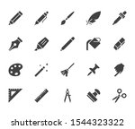 drawing tools flat glyph icons... | Shutterstock .eps vector #1544323322