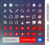 you tube web video player icons ...