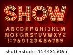 show alphabet font. 3d letters...   Shutterstock .eps vector #1544355065