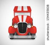 red fire truck retro car icon ... | Shutterstock .eps vector #154435838