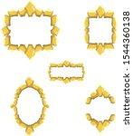 vector frame design element set....