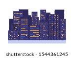 night city buildings vector...   Shutterstock .eps vector #1544361245