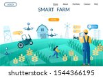 smart farm vector website... | Shutterstock .eps vector #1544366195