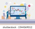 cartoon analytics team... | Shutterstock .eps vector #1544369012