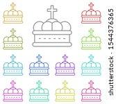 history  crown multi color icon....