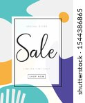 abstract sale poster. discount  ...   Shutterstock .eps vector #1544386865