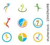 healthy life people logo... | Shutterstock .eps vector #1544396498