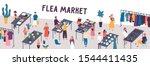 flea market flat vector... | Shutterstock .eps vector #1544411435