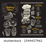 bakery menu template for... | Shutterstock .eps vector #1544427962