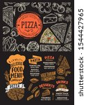pizza menu template for... | Shutterstock .eps vector #1544427965