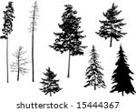 illustration with fir set... | Shutterstock .eps vector #15444367