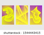 minimal covers design. colorful ... | Shutterstock .eps vector #1544443415