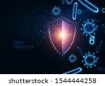 futuristic immune system... | Shutterstock .eps vector #1544444258