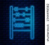 glowing neon line abacus icon... | Shutterstock .eps vector #1544498582