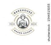 Bakery Badge Or Label Retro...
