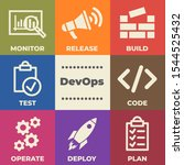 devops concept with icons and...   Shutterstock . vector #1544525432