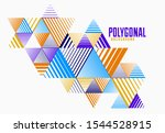 abstract polygonal background... | Shutterstock .eps vector #1544528915