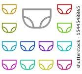 underwear multi color icon....