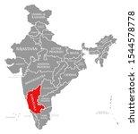 karnataka red highlighted in...   Shutterstock . vector #1544578778