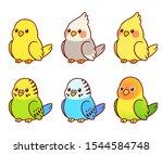 Cute Cartoon Pet Birds...