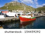old wooden fishing boats moored ... | Shutterstock . vector #154459292