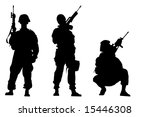 black silhouettes of the... | Shutterstock . vector #15446308