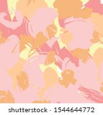 hand drawn  pink and orange... | Shutterstock .eps vector #1544644772