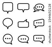 set of chat speech bubble icon. ...