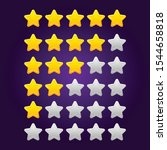 set of shiny star ratings for...