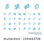 isometric line icon set. 3d... | Shutterstock .eps vector #1544663708