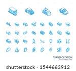 isometric line icon set. 3d... | Shutterstock .eps vector #1544663912