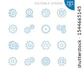 gear related icons. editable... | Shutterstock .eps vector #1544665145