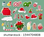 christmas icons stickers... | Shutterstock .eps vector #1544704808