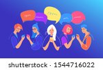social media chat and...   Shutterstock .eps vector #1544716022