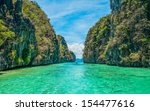 tropical landscape   cristal...   Shutterstock . vector #154477616