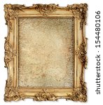 old golden frame with empty... | Shutterstock . vector #154480106