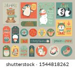 christmas cards and gift tags... | Shutterstock .eps vector #1544818262