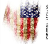 American Flag With Some Grunge...