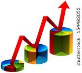 an image of 3d pie chart steps. | Shutterstock .eps vector #154483052