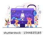 podcast vector illustration....   Shutterstock .eps vector #1544835185