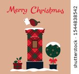 merry christmas card with... | Shutterstock .eps vector #1544838542