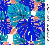 seamless pattern with hawaiian...   Shutterstock .eps vector #1544869505