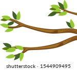 cartoon tree branches with... | Shutterstock .eps vector #1544909495