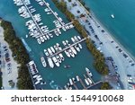 Aerial View Of The Marina With...