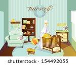 Stock vector nursery baby 154492055