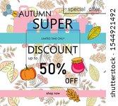 autumn sale banner template...   Shutterstock .eps vector #1544921492