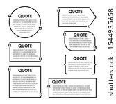 quote box frame  big set....   Shutterstock .eps vector #1544935658