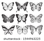 monochrome collection of... | Shutterstock .eps vector #1544963225